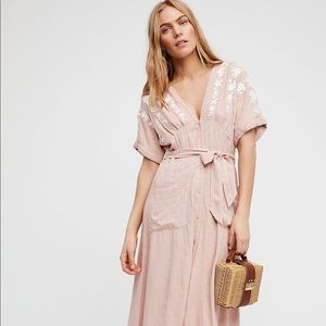XL Free People Embroidered Love to Love You Dress